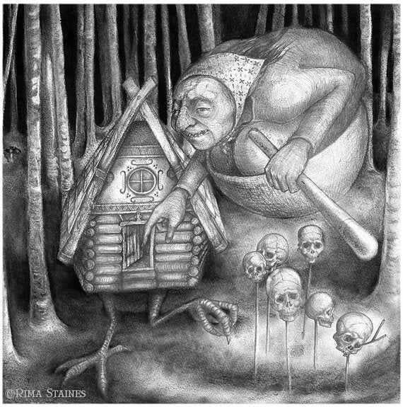 Baba Yaga (black and white)