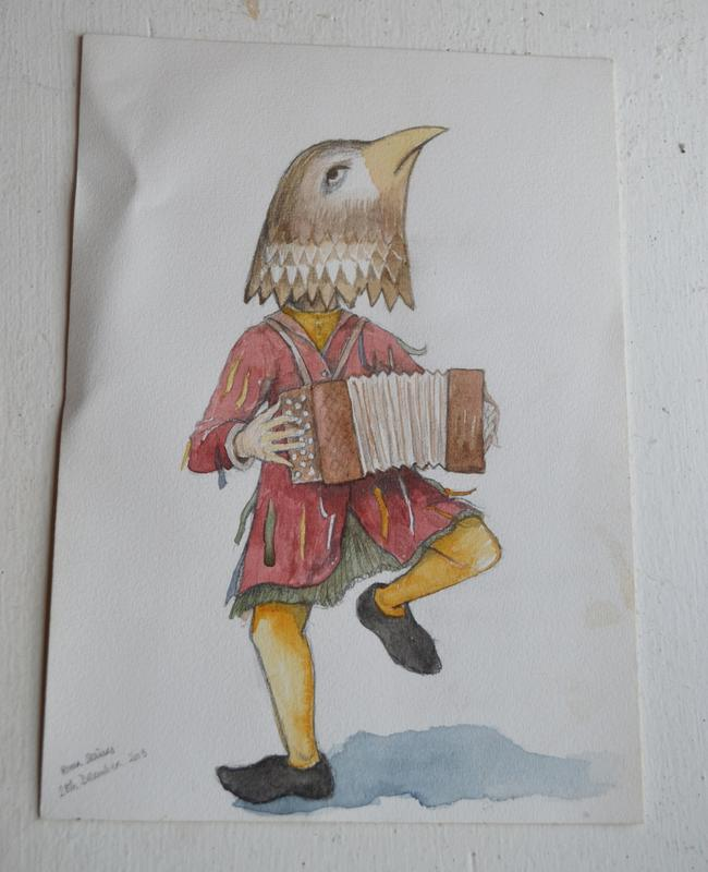Bird Accordionist (original)