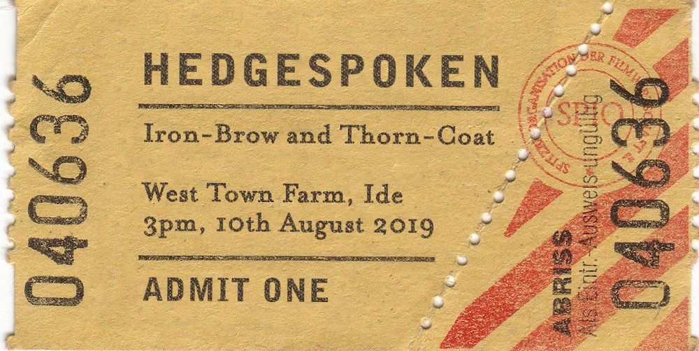 Iron-Brow and Thorn-Coat - 10th August 3pm - West Town Farm