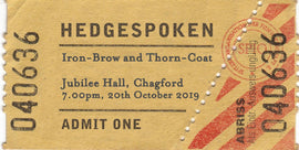 Iron-Brow and Thorn-Coat - 20th October 7.00pm - Jubilee Hall, Chagford, Dartmoor