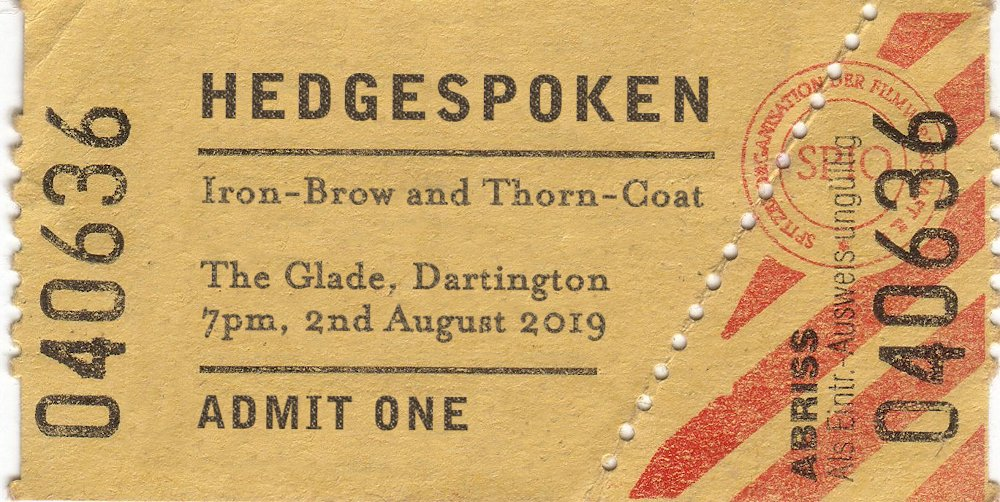 Iron-Brow and Thorn-Coat - 2nd August 7pm - The Glade