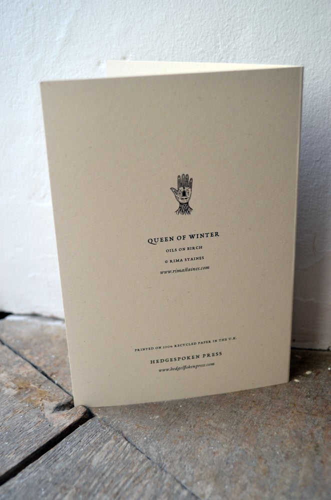 Queen of Winter - greetings card