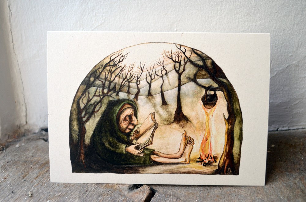 Telling Stories to the Trees - greetings card