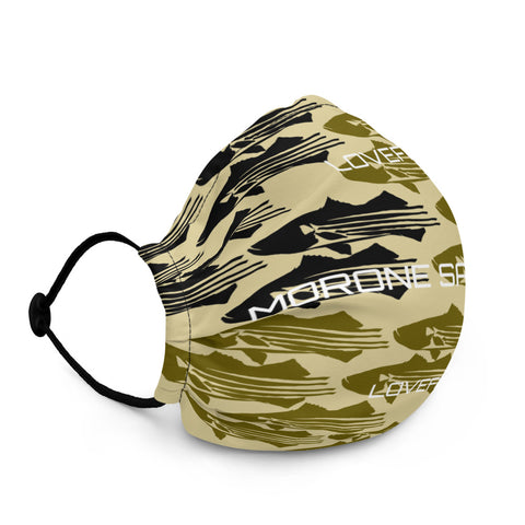 Striped Bass Candy Camo Face Mask Tan