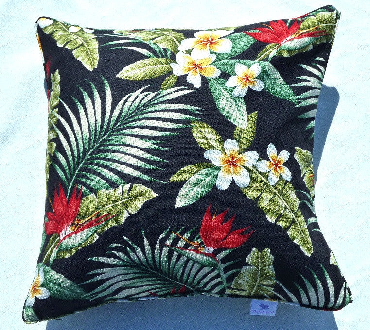 Maunawili Pillow Cover (Black)