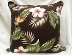 Mai Tai Floral Pillow Cover (Brown)