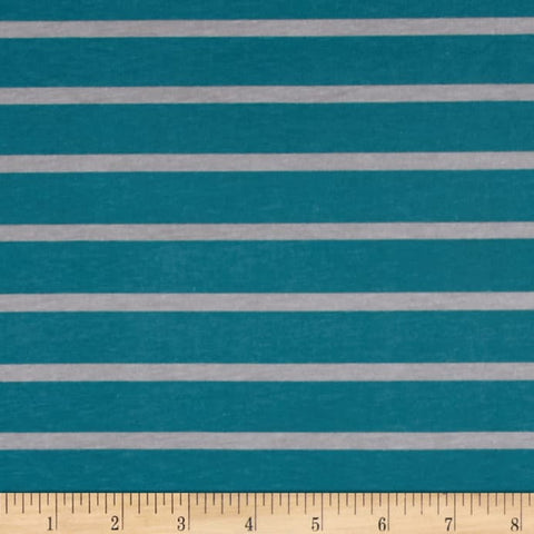 Knit Custom - Teal/Gray Stripe