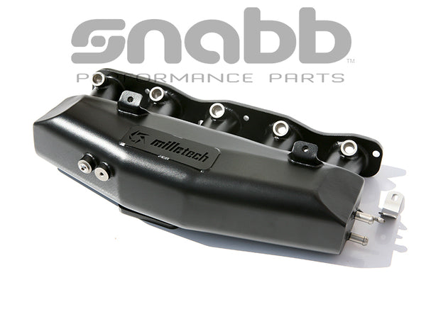 Milletech 316 Stainless Big Plenum Intake Manifold Black Powder Coating. Manufactured to order.
