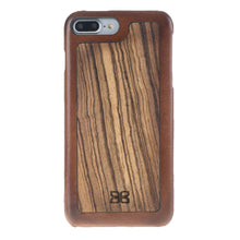 iPhone 7 / 8  Genuine Leather Wood Case, The Best Case for iPhone 7 / 8 in Stylish RusticBurnishedTan
