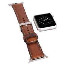 Apple Watch Band Genuine Leather Unique Gift, Apple Watch Leather Band, 38mm 42mm for Series 1 Series 2 Series 3 in BurnishedTan