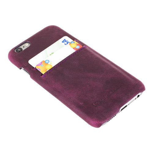 iPhone 6S Leather Case, iPhone 6 Leather Case, The Best Case for iPhone in Rustic Purple, Perfect to carry Essential Cards in AnticPurple