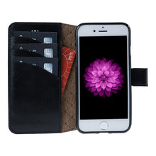 iPhone 8 Wallet Case, iPhone 7 Leather Wallet Case with Magnetic Closure, Perfect for 3+ Cards and Cash in RusticBlack