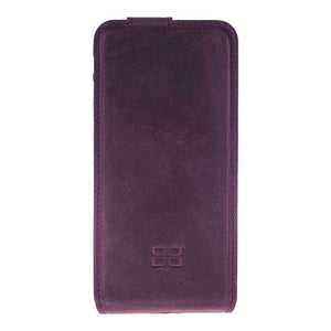 iPhone 7  / 8  Flip Case , iPhone 7  / 8  Genuine Leather Case, iPhone 7 / 8  Leather Case Flip Stand in AnticPurple