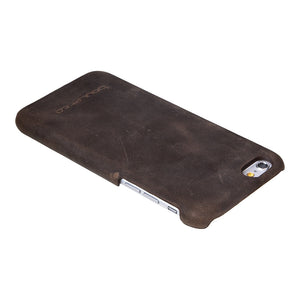 iPhone 6 Plus Leather Cover, iPhone 6s Plus Leather Case, The Best Case for iPhone 6 Plus Snap on Case in Antic Coffee