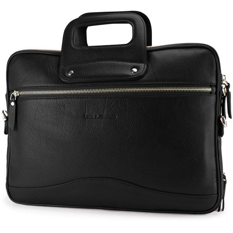 Leather Briefcase Leather Laptop Distressed Leather Bag Men's Women's Perfect Gift, for Macbook pro 13'' / Occasion in Rolex Black