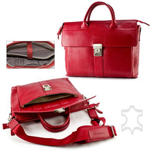 Leather Briefcase Leather Laptop Distressed Leather Bag Men's Women's Perfect Gift, for Macbook pro 13'' / Wizard in Red