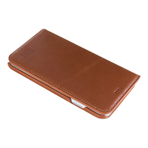 iPhone 6S Wallet Case, iPhone 6 Leather Case, 6S Best Leather Case in Ultimate Book Style, in RusticBrown
