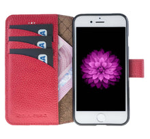 iPhone 8 Wallet Case, iPhone 7 Leather Wallet Case with Magnetic Closure, Perfect for 3+ Cards and Cash in FloaterRed