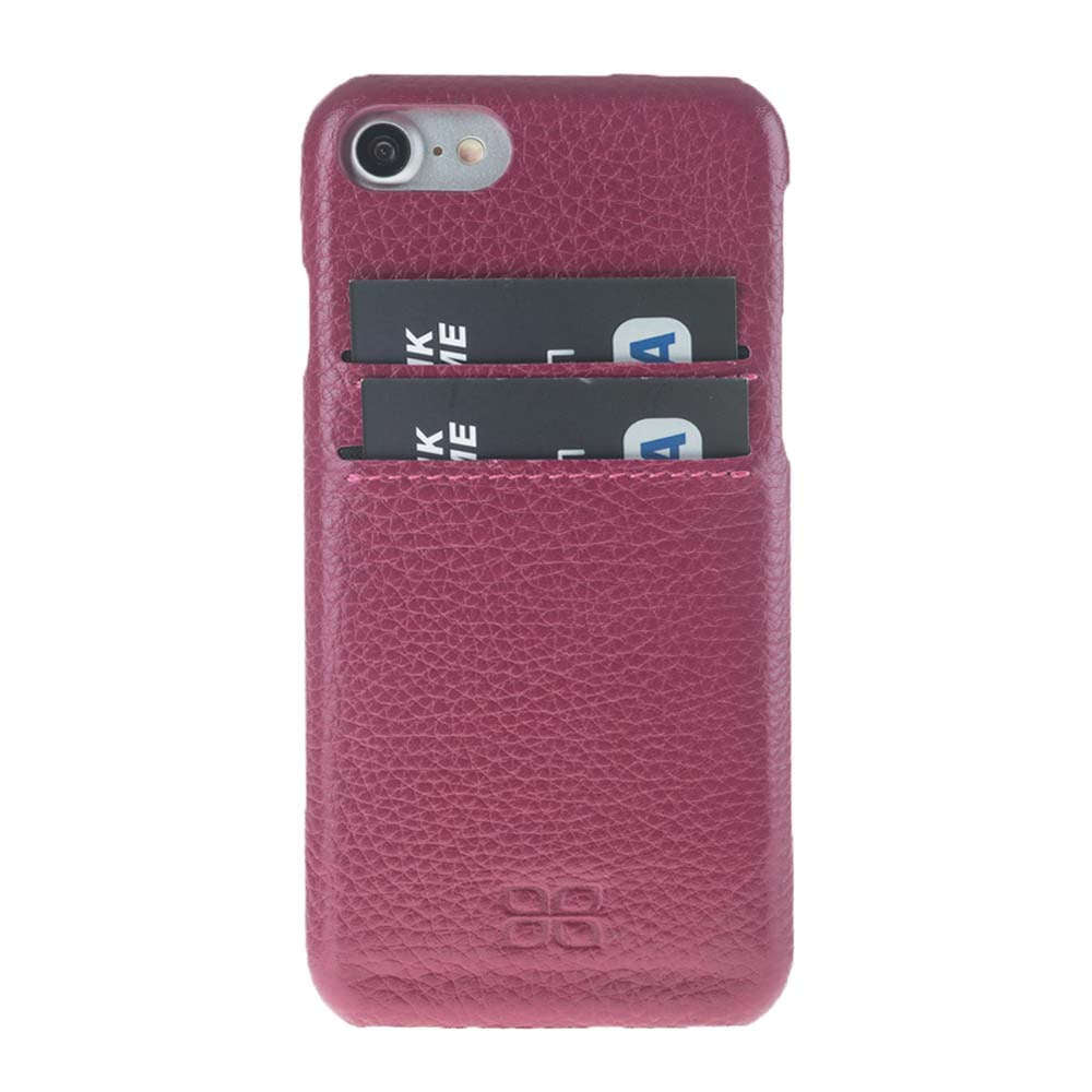 Premium iPhone 7 / 8 Leather Case , iPhone 7  / 8 Genuine Leather Cover, Perfect to carry Essential Cards in FloaterBordeaux