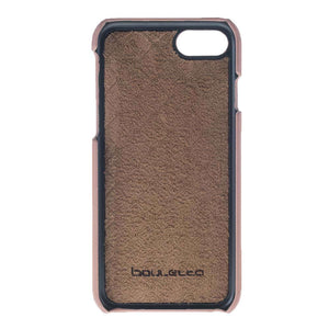 Premium Leather iPhone 7 / 8 Case , iPhone 7 / 8 Leather Cover, Perfect to carry Essential Cards in RusticPaleOrange