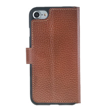 iPhone 7 / 8 Wallet Case, iPhone 8 Leather Wallet Case with Magnetic Closure, Perfect for 3+ Cards and Cash in FloaterTan