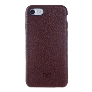 iPhone 8 Leather Case, iPhone 7 Case Snap On Full Leather Case, The Best Case for iPhone 7  / 8, Premium Leather in FloaterBordeaux