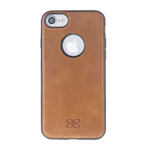 iPhone 7  / 8 Leather Flex Cover, iPhone 8 Case Snap On Leather Case, The Best Case for iPhone 7  / 8, Premium Leather in RusticBrown