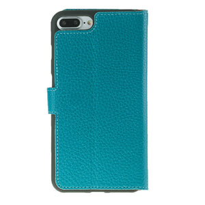 iPhone 8 Plus / 7 Plus Wallet Case with Magnetic Closure, Perfect for 3+ Cards and Cash in Floater Turquoise