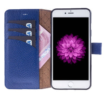iPhone 7 Plus / 8 Plus Wallet Case, iPhone 8 Plus Leather Wallet Case with Magnetic Closure, Perfect for 3+ Cards and Cash in Floater Blue
