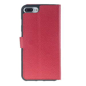 iPhone 7 Plus / 8 Plus Wallet Case, iPhone 7 Plus Leather Wallet Case with Magnetic Closure, Perfect for 3+ Cards and Cash in Floater Red