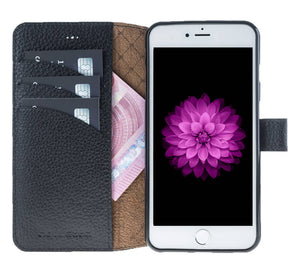 iPhone 6 / 6S Wallet Case, iPhone 6S / 6S Leather Wallet Case with Magnetic Closure, Perfect for 3+ Cards and Cash in Floater Black