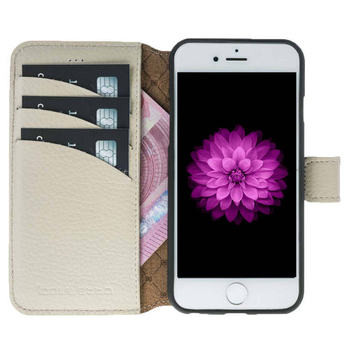 iPhone 6 / 6S Wallet Case, iPhone 6S / 6S Leather Wallet Case with Magnetic Closure, Perfect for 3+ Cards and Cash in Floater Beige