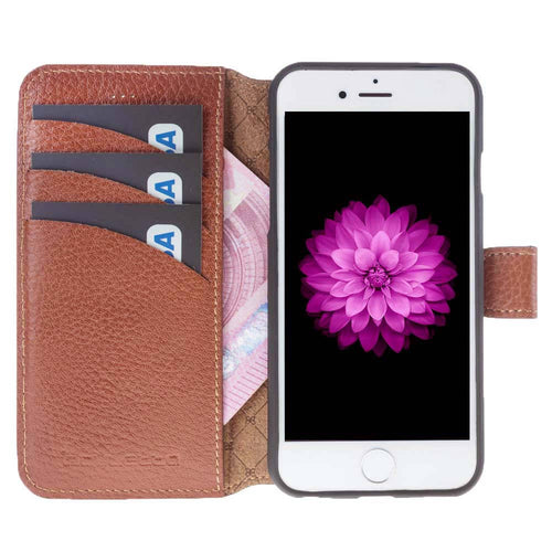 iPhone 6 / 6S Wallet Case, iPhone 6S / 6S Leather Wallet Case with Magnetic Closure, Perfect for 3+ Cards and Cash in Floater Tan