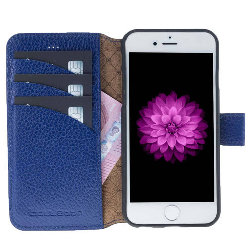 iPhone 6 / 6S Wallet Case, iPhone 6S / 6S Leather Wallet Case with Magnetic Closure, Perfect for 3+ Cards and Cash in Floater Blue