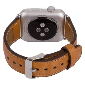Apple Watch Band Genuine Leather, Husband Wife Partner Unique Gift, Apple Watch Leather Band, 38mm 42mm in Camel