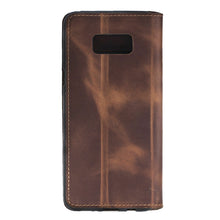 Galaxy S8 / S8 Plus Leather Case, Samsung Galaxy S8/S8+ Genuine Leather Case, Best S8 Plus Case Perfect for 3+ Cards and Cash Book Style in AnticBrown