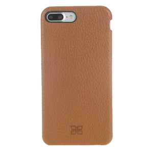 iPhone 8 Plus Leather Case, iPhone 7 Plus / 8 Plus Case Snap On Inside out Genuine Leather Case  in Floater Tan