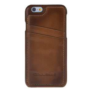 iPhone 6 Plus / 6S Plus Standing Snap On Case with Magnets, iPhone 6 Plus Case, Perfect for Cards and Cash, in Burnished Tan Leather