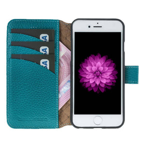 iPhone 6 / 6S Wallet Case, iPhone 6S / 6S Leather Wallet Case with Magnetic Closure, Perfect for 3+ Cards and Cash in Floater Turquoise