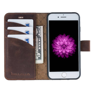 iPhone 6 / 6S Detachable Wallet Case - Snap-on Case (2 Case in 1), iPhone 6s Case, Perfect for Cards and Cash in AnticBrown