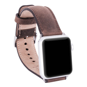 Genuine Leather Band for Apple Watch,  Leather Band 38 mm, 42mm for Series 1, Series 2 and 3 in AnticCoffee