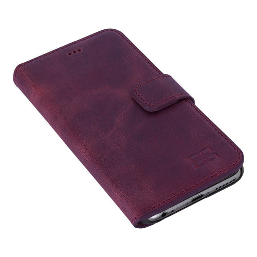 iPhone 6 Wallet Case, iPhone 6S Leather Case, 6S Best Leather Wallet Case, Perfect for 3+ Cards and Cash, in Antic Purple