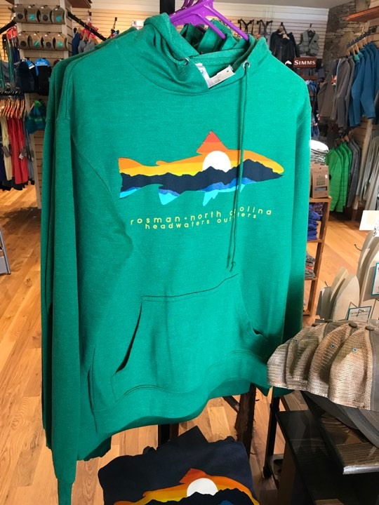 Mountain Trout Hoodie by Duck Company at Headwaters Fly Fishing