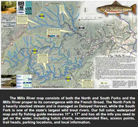 Mills River Map and Fly Fishing