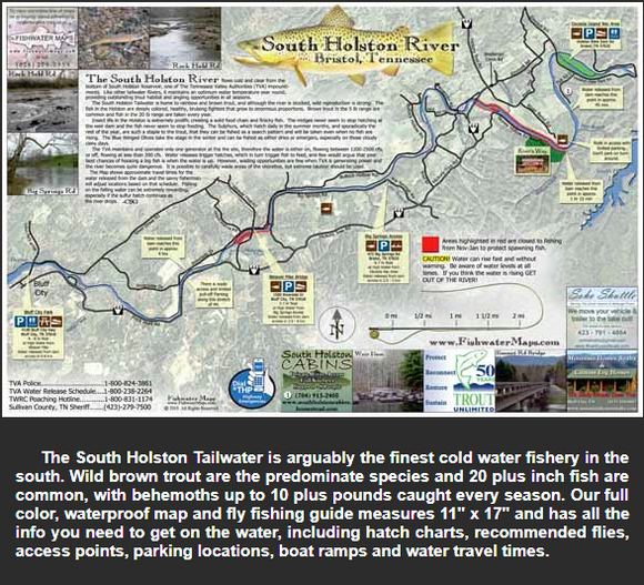 South Holston Rive and Fish Map