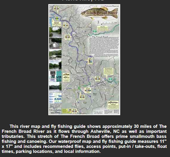 French Broad River Map- Ashevil