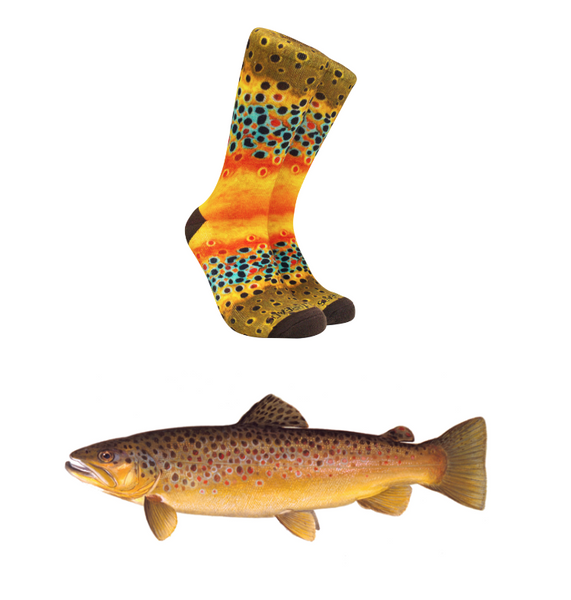 Reel Thread Socks/ Brown Trout