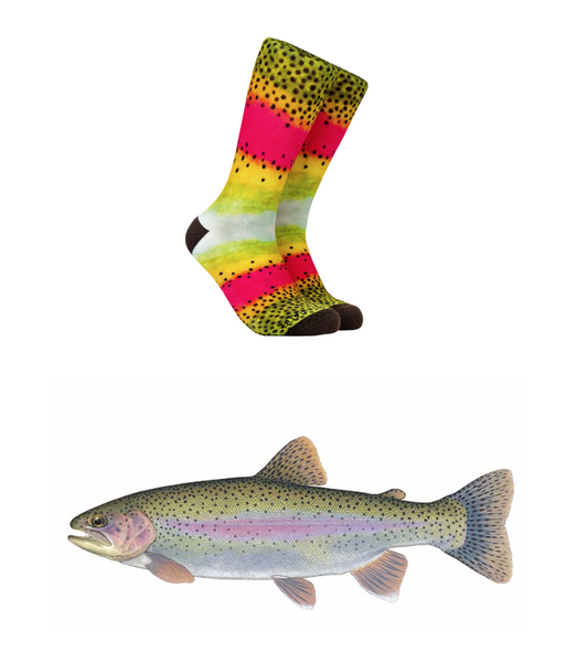 Reel Thread Socks/Rainbow Trout
