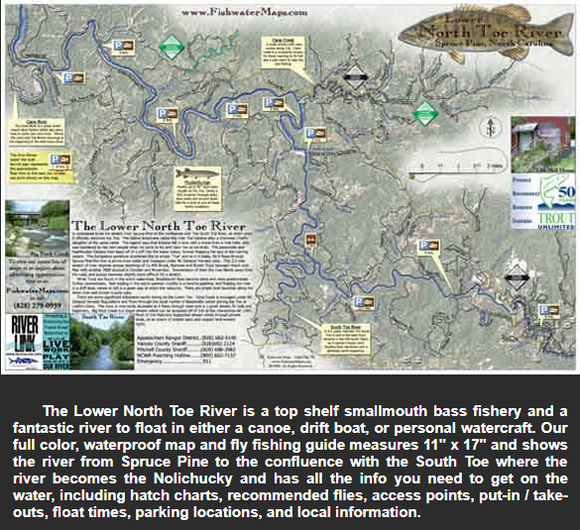 Lower North Toe River Map