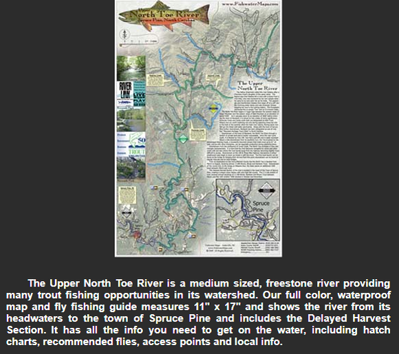 Upper North Toe River Map